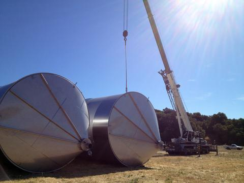 Moving Large Wine Tanks