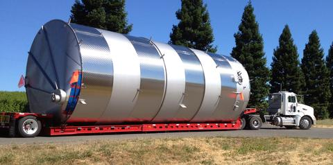 Trucking a Large Wine Tank
